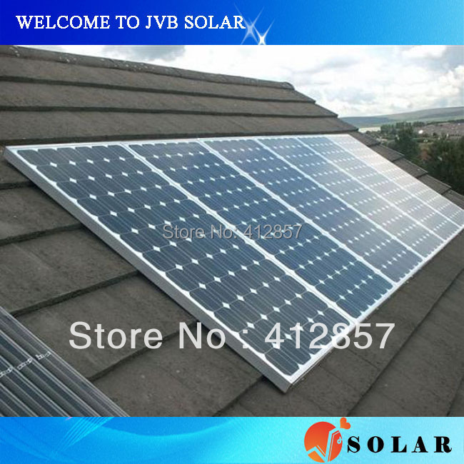 Promotion photovoltaic cell modules 210w 30.6v mono silicon solar panel kit to supply from china CE TUV certificate(China (Mainland))