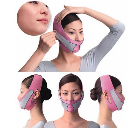 Hot Sale Min.order $5 (mix order) Thin Face Mask Slimming Bandage Skin Care Shape And Lift Reduce Double Chin Face Belt(China (Mainland))