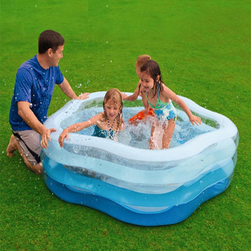 Star Style Inflatable Swimming Water Pool 185*180*53CM Baby Children Piscina Zwembad Playground Bath Pool(China (Mainland))