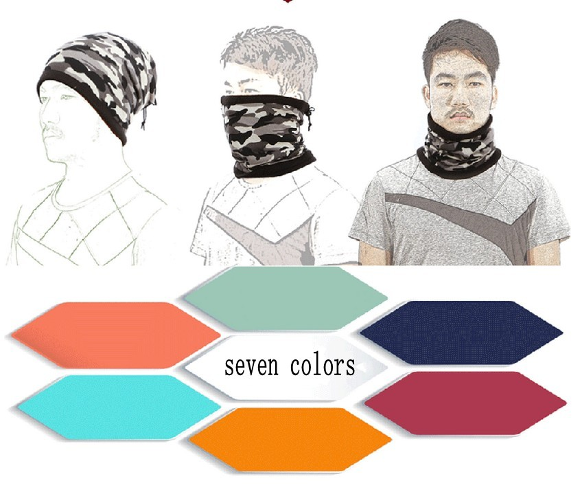 Outdoor collar cashmere scarf scarf caps and protective face mask hat scarf hat
