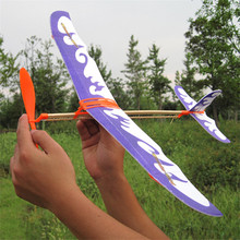 Rubber Band Airplane Paper Jet Glider model airplane Boy's toys learning machine Science Toys Assembly plane Educational toys(China (Mainland))