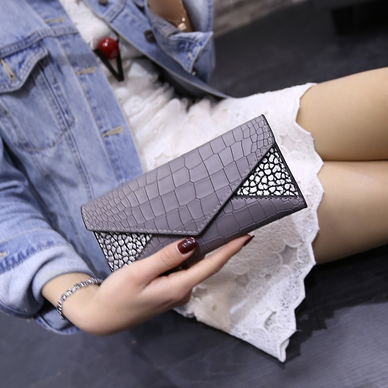 2016 new Luxury brands Women Wallets crocodile grain Long style High Quality wallets Ladies Purse Clutch Free Shipping(China (Mainland))