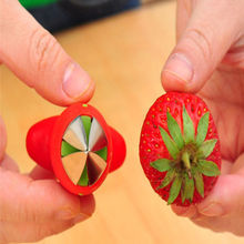 1pc Novelty Red Color Strawberry Tomatoes Stem Leaves Huller Remover Free Shipping(China (Mainland))