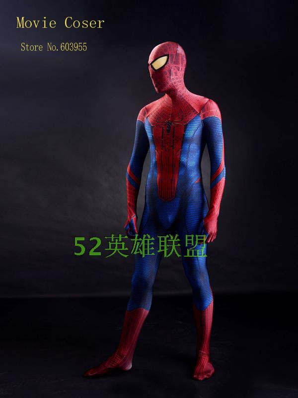 Movie Coser-5 High Quality Custom Made 2015 Amazing Spider man Cosplay Costume Cosplay SuitОдежда и ак�е��уары<br><br><br>Aliexpress