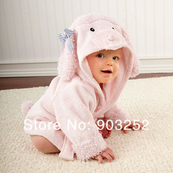 14 Designs Hooded Animal modeling Baby Bathrobe/Cartoon Baby Spa Towel/Character kids bath robe/infant beach towels