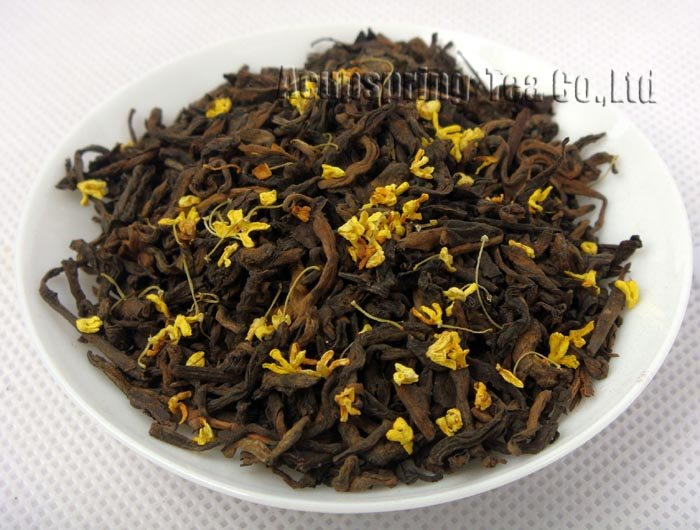 2009 Nannuo Mountain Loose Puer Tea,500g Osmanthus Loose Leaf Ripe Puer,1lb Puerh,PL09G, Free Shipping<br><br>Aliexpress