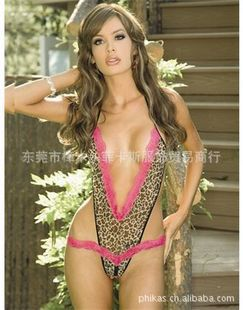 Free Shipping Wholesale Cheap Women's Very Sexy Lingerie Black Explosed Three-point Tematation Transparent Bodysuit(China (Mainland))