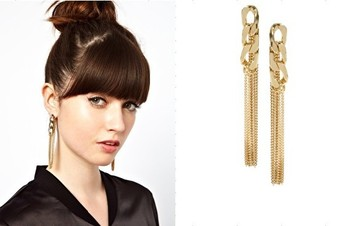 Free shipping 2014 Hinge Tassel Chain Earring 11.5cm Long Girls Women Jewelry E261
