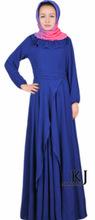 chiffon summer long islamic dress 2015 muslim women dress Composite-silk dubai abaya islamic dresses Free Shipping KJ-WAB8029(China)