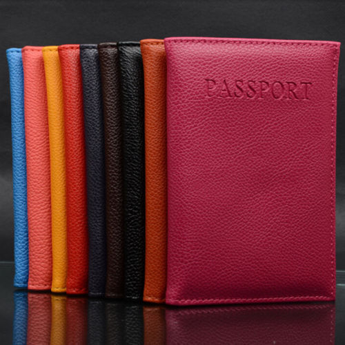New Practical Immitation Leather Women's Men's Travel Passport Cover Women Men Passport Holder Card Case Holder Storage Bag(China (Mainland))