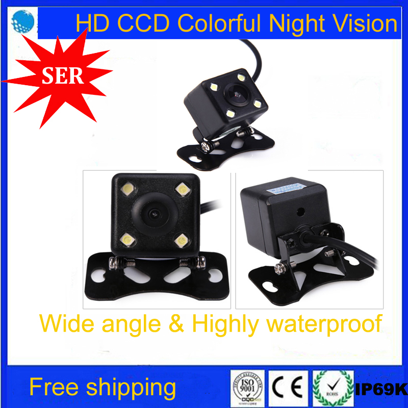 Promotion CCD Waterproof Car Rear View Camera Wide View Angle Car Back Reverse Camera RCA Night Vision Parking Assistance Camera(China (Mainland))