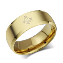 Wholesale black masonic rings for men stainless steel charm man wedding jewelry cocktail accessories
