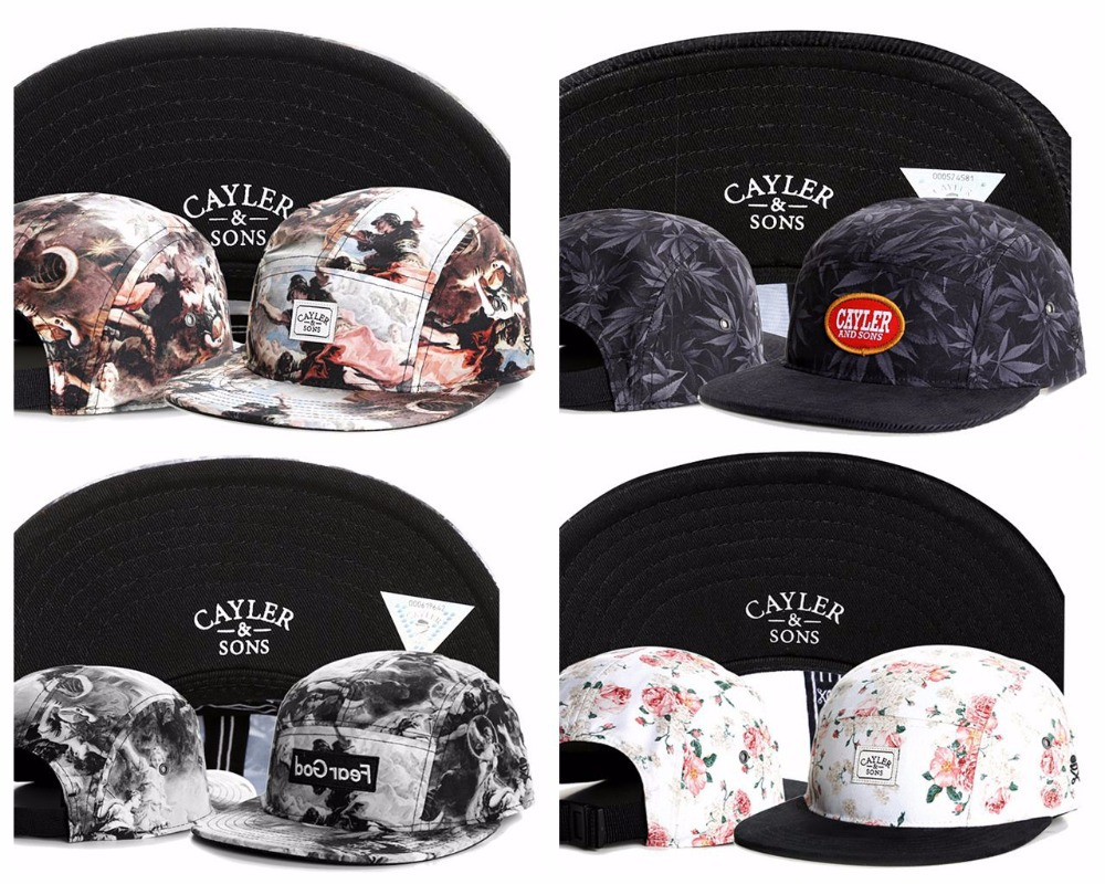 Cayler and sons Five 5 panel snapback caps hip hop cap flat hat hats for men casquette gorras planas bone aba reta toca swag(China (Mainland))