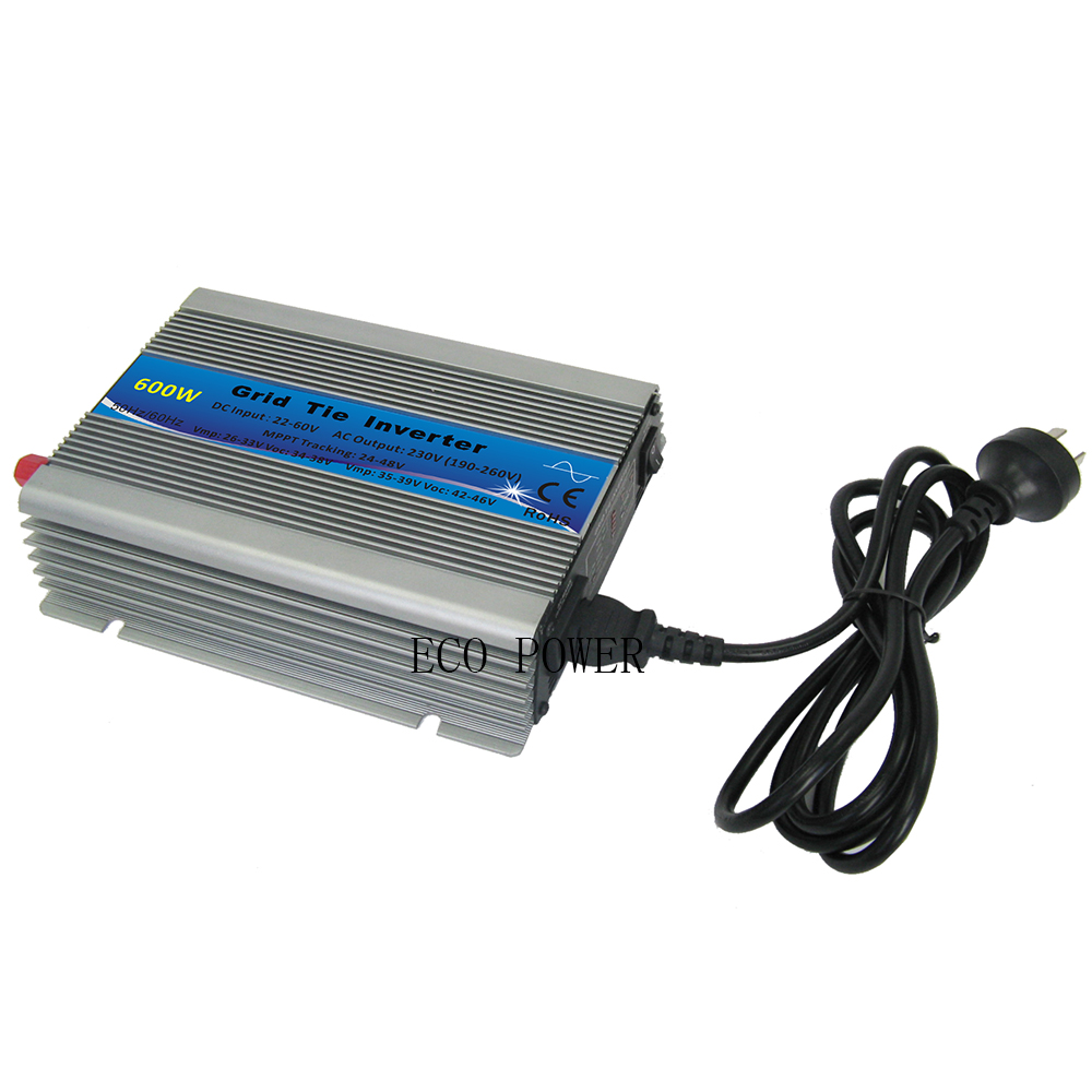CE Approved MPPT 600W On Grid Tie Solar Power Inverter Pure Sine Wave 22-60VDC to 110V or 230VAC 600W Micro Grid Tie Inverter(China (Mainland))