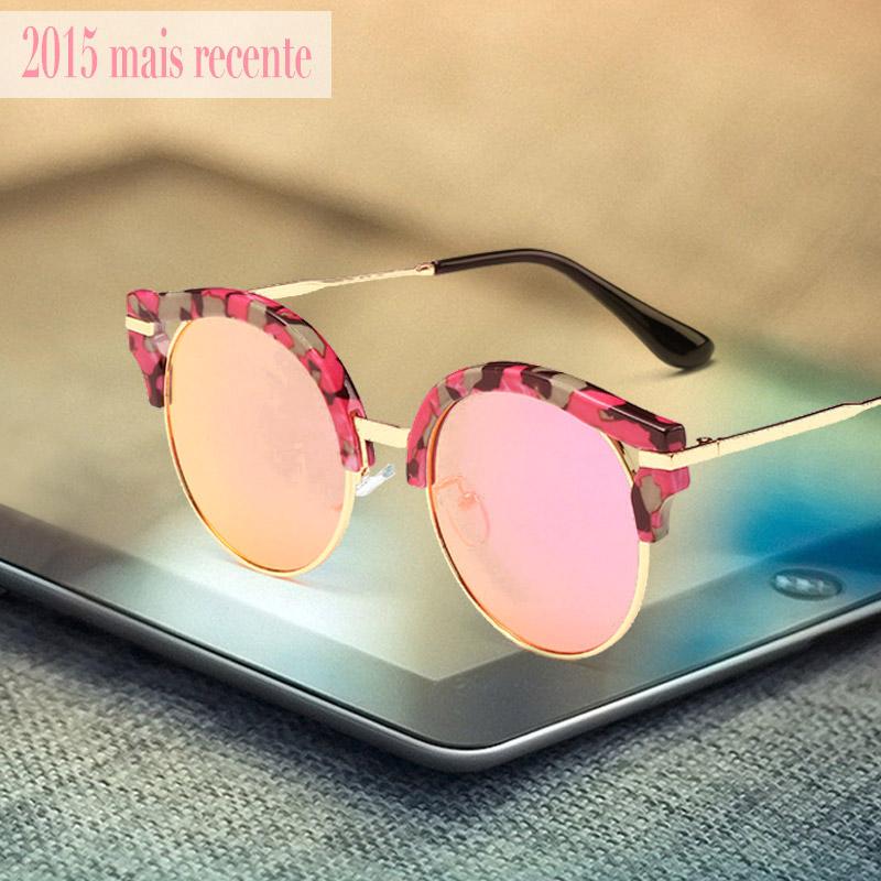 2015 Brand designer Round Sunglasses Women Oculos UV400 Points sun glass fashion Female eyewear Women's shades outdoor sports(China (Mainland))