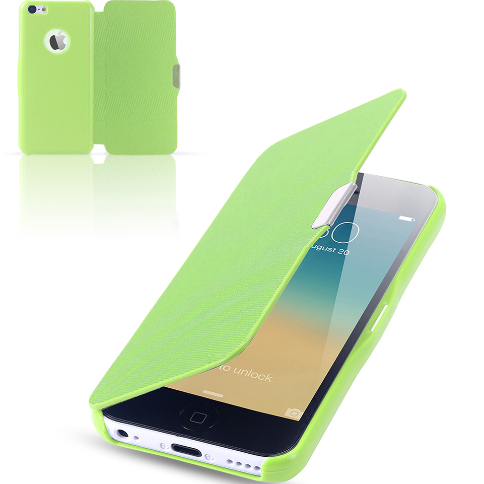 5S/5C/SE Capa Ultra Thin Leather Magnetic Chip Flip Cases For iphone 5 5S SE Full Protection Shell Cover Bag For Apple iPhone 5C(China (Mainland))