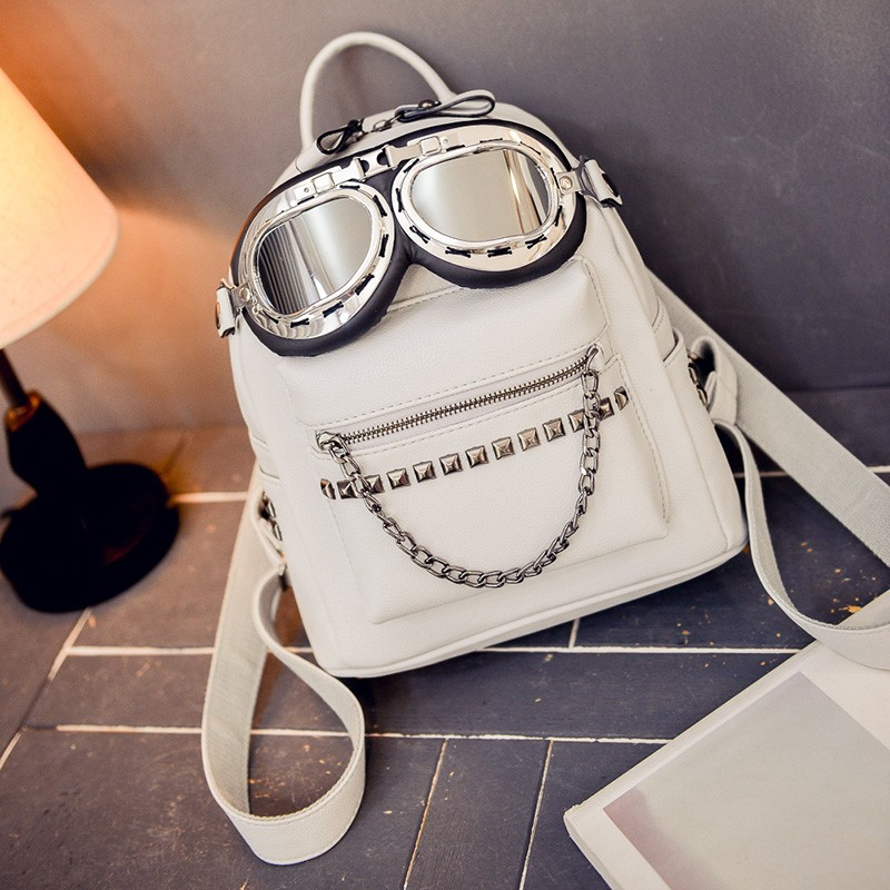 2016 cool sunglasses fashion women backpacks Korean rivet mini school bag backpack for youth lady College girls rucksack (26)