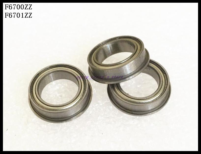 30pcs/Lot F6700ZZ F6700 ZZ 10x15x4mm Flange Thin Wall Deep Groove Ball Bearing Miniature Bearing Brand New