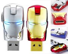 high quality Metal  golden &silver USB Flash Drive Pen Drive Iron Man pendrive Flash Memory Stick Drives 64GB 32GB 16GB 8GB 4GB(China (Mainland))