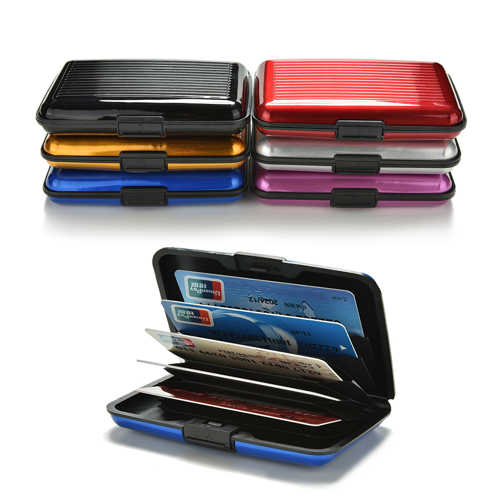 Business Card Case Stainless Steel Aluminum Holder Metal Box Cover