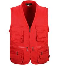 Summer Men's Photographer Vest Multi-Pockets Cheap Vests Outdoor Shooting Hunting Waistcoat Vest Walking Travel Vest L-3XL(China (Mainland))