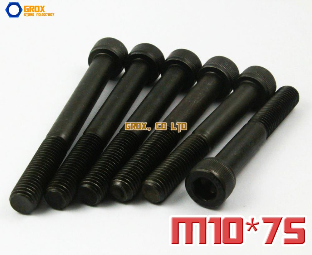 5 Pieces M10 x 75mm 12.9 Grade Alloy Steel Allen Bolt Hex Socket Cap Screw<br><br>Aliexpress