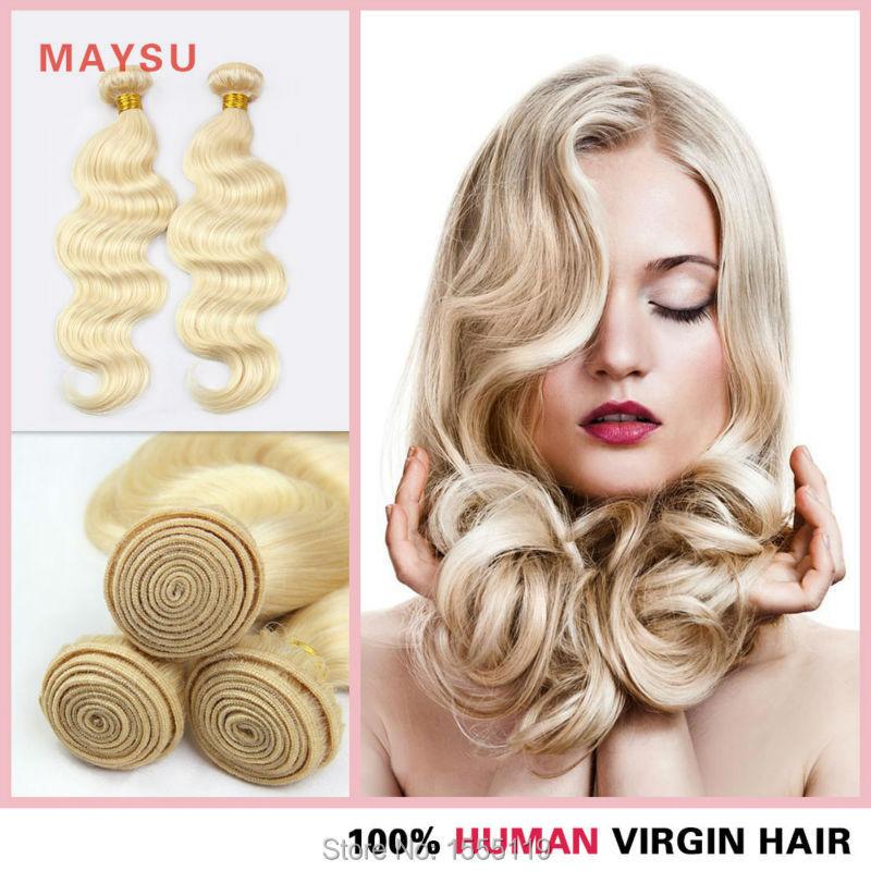 Maysu Hair Product Brazilian 613 Blonde Virgin Hair Body Wave 8-30 Inch 3 Bunldes Lot 100% Human Hair Weave Free Shipping<br><br>Aliexpress