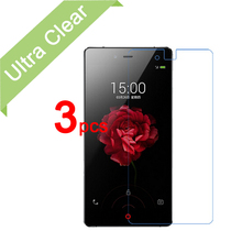 3pcs/lot New Ultra Clear LCD Screen Protector Guard Cover For ZTE Nubia Z9 Max Protective Film + cleaning cloth