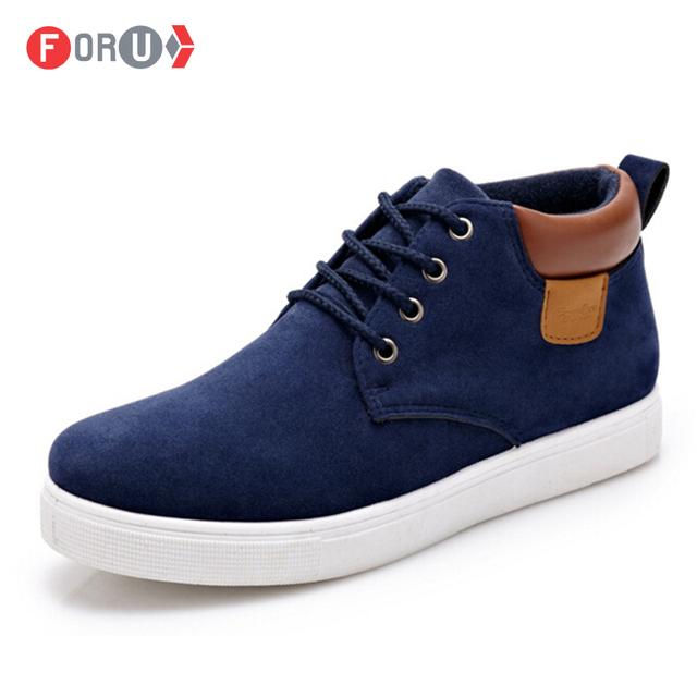 Новые 2016 мужской обуви мода высокого верха свободного покроя обувь Кожа PU является ...
