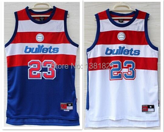 Free Shipping Washington Bullets Jersey Michael Jordan #23 Cheap Throwback Embroidery Logo Retro Jersey USA Basketball Jersey(China (Mainland))