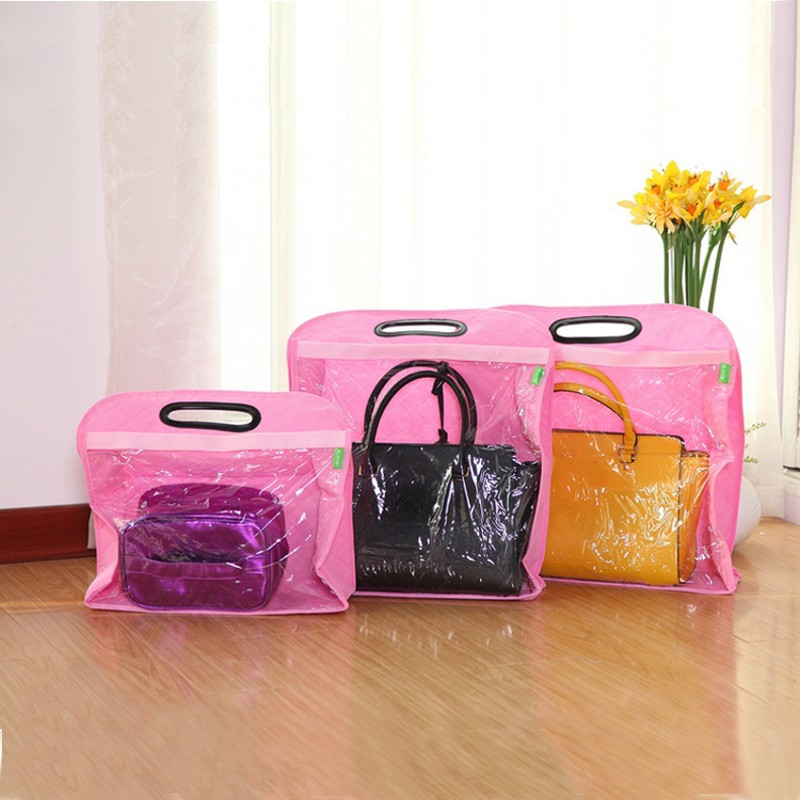 Dust Cover Bag Handbag Collecting Keep Clean Handbag Organizer Wardrobe Storage Bag Soft Handle Design Three Sizes(China (Mainland))