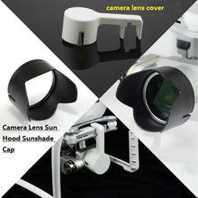 Lente de la cámara de la cubierta + lente parasol tapa sombrilla para DJI Phantom 3 PZT cámara