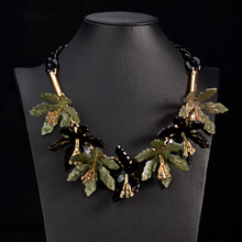 Buy New style acrylic flower necklace & pendant big brand statement chokers women party jewelry vintage maxi necklace fashion collar for $10.16 in AliExpress store