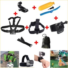 Gopro Hero Accessories Set Helmet Harness Chest Belt Head Mount Strap Go pro hero3 Hero4 2 3+ Sj4000 Black Edition Free Shipping