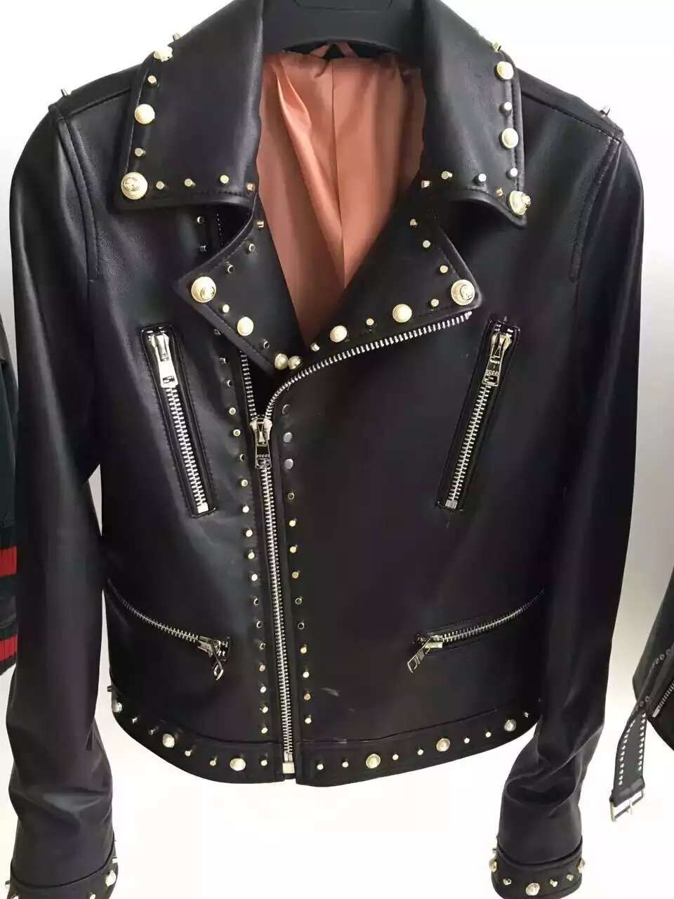 High quality leather jacket women 2016 new autumn women's leather jacket fashion casual leather jacket(China (Mainland))