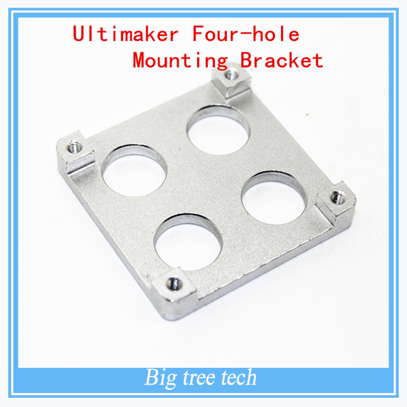 5PCS 3D printer accessories Ultimaker Parts  four-hole aluminum sheet mounting bracket/ extruder hotend of PEEK mounting bracket<br><br>Aliexpress
