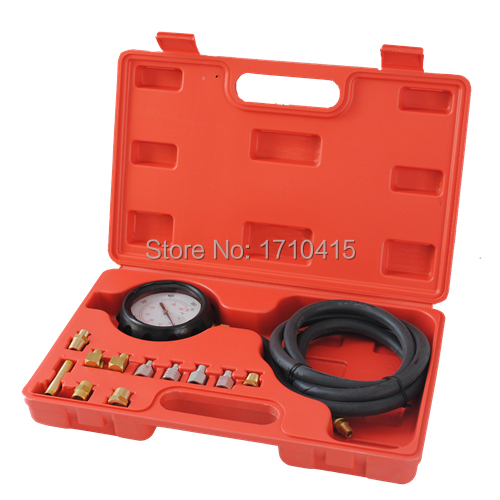Free Shipping Professional Car/Truck Diesel Petrol Wave Box Oil Pressure Meter Test Gauge Tester Tool Kit Set(China (Mainland))