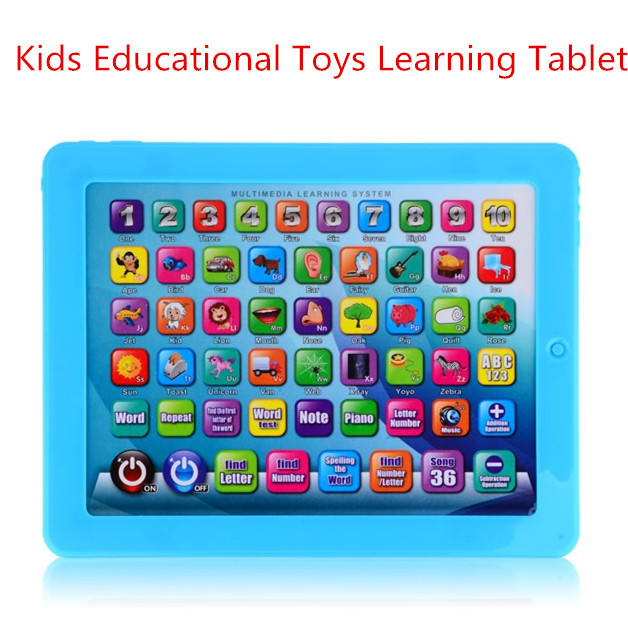 2015 Hot Infantil Kids Educational Toys Learning Tablet Touch Screen Learning Education Machine cheap tablets free shipping(China (Mainland))