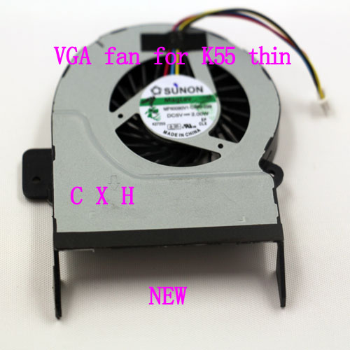 100% NEW CPU Colling FAN for ASUS K55 thin 10mm<br><br>Aliexpress