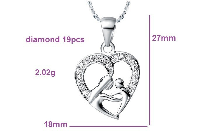 HTB1vNQjHpXXXXccXFXXq6xXFXXXD - Uloveido 10% Off Mothers Day Gifts for Mom Silver Color Necklace Fashion Necklaces & Pendants for Women Girls Free Shipping N595