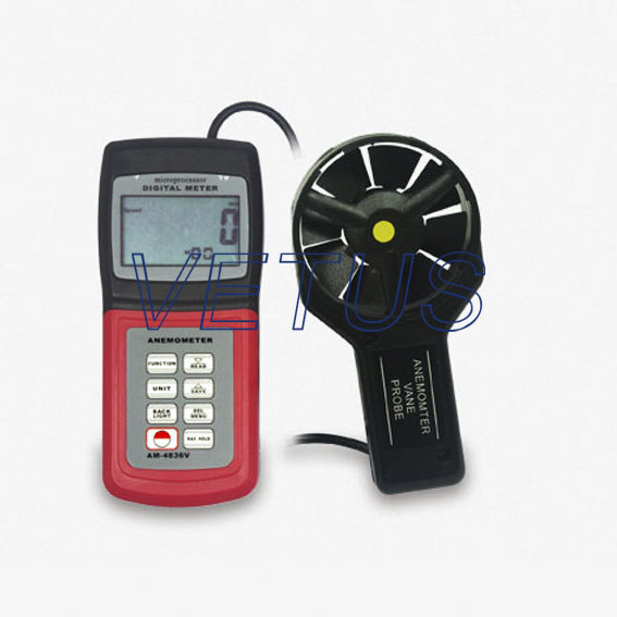 Фотография Digital Anemometer AM4836V, AM-4836V Temperature sensor Free shipping