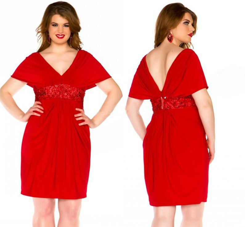 Chicstar Plus Size Rockabilly First Love Red Satin Flare