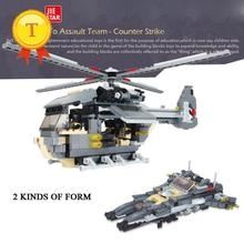 Hot Counter Strike force Rescue helicopter 2in1 fighter building block Army Rescue workers minifigures compatible with legoes