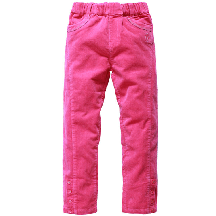 2015 spring and autumn hot sale baby girls solid color pants little girls corduroy trousers YGK30523(China (Mainland))
