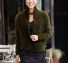 2019 Новый реального норки кашемировый свитер для женщин однотонная одежда Светодиодная лампа направленного света зима кашемир Прохладный П...(China)
