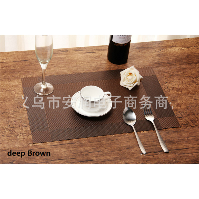 45*30cm 3pcs/lot IKEA Western PVC Insulation Pad Bowl Placemats Coasters Washable Quick-drying Kitchen Accessories 6zb006(China (Mainland))