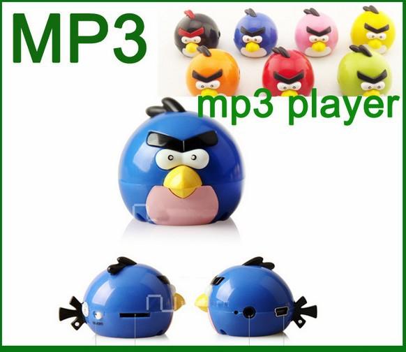 fashion Bird Mini digital mp3 player Kids MP3 Player with Card Slot no USB Cable earphone Free shipping(China (Mainland))