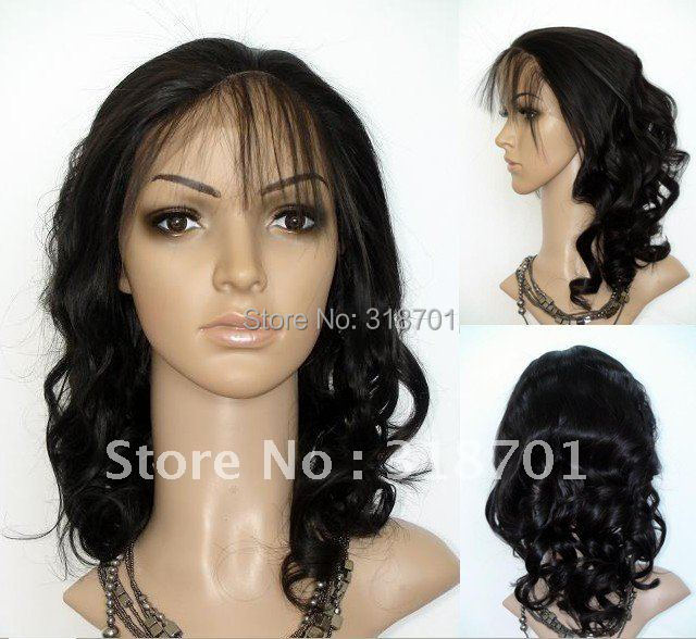 Beautiful synthetic Lace Front Wig 14-16 body wave #2 dark brown  Heat Resistant Hair Lace Front Wigs<br><br>Aliexpress