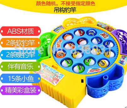 Child fishing toy electricslewing fishing set 1 - 2 - 3years old baby educational toys parent-child tool(China (Mainland))
