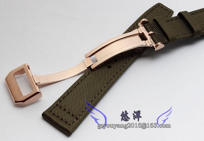 Часы полоса 21 мм нейлон натуральная кожа часы Deployant застежка пряжки для ( подходит ) пилот IW501901
